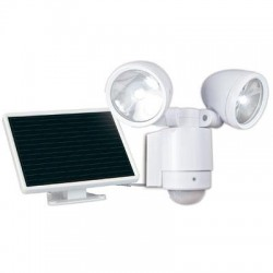 Maxsa - 44418 - MAXSA(R) Innovations 44418 Bright Dual-Head Solar Security Light (White)