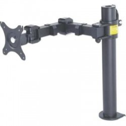 IC Intracom - 461092 - Manhattan 461092 Desk Mount for Monitor - 30 Screen Support - 22.05 lb Load Capacity - Black