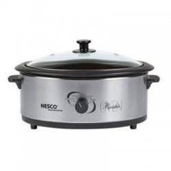 Metal Ware / Nesco - 4816-25-30 - Nesco 6 Qt. S/Steel Roaster, Nescote Non-Stick Cookwell - Single - 0.20 ft³ Main Oven - 750 W - Stainless Steel