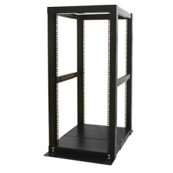 StarTech - 4POSTRACK25 - StarTech.com 25U Adjustable Depth 4 Post Open Frame Server Rack Cabinet - 23 25U