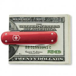 Victorinox / Swiss Army - 53739 - Victorinox 53739 Money Clip Pocket Knife - Red - Metal