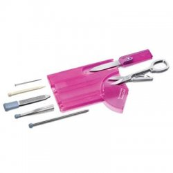 """Victorinox / Swiss Army - 53930 - Victorinox Swiss Army SwissCard Multipurpose Tool - 3.3"""" Length - Pink"""