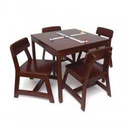 Lipper - 585C - Child Sqr Table w Chairs Chrry