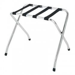 Whitmor - 6060-430 - Whitmor Luggage Rack - Floor - Black, Chrome - Chrome Steel, Nylon, Plastic, Metal - 1