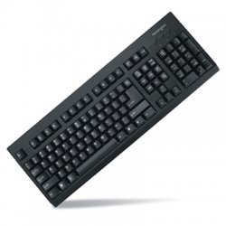 Kensington - K64370A - Kensington K64370 Keyboard - PS/2, USB - 104 Keys - Black