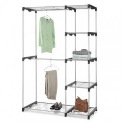 Whitmor - 6779-3044 - Whitmor Display Rack - 5 Compartment(s) - 68 Height x 45.2 Width x 19.3 Depth - Silver - Steel, Resin - 1 / Pack