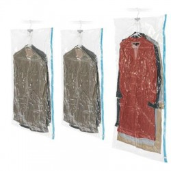 Whitmor - 6782-3575-BB - Whitmor Spacemaker Hanging Bags - 9.45 Width x 11.05 Length x 4.02 Depth - Clear - Nylon, Polyethylene - 3/Set - Garment, Jacket