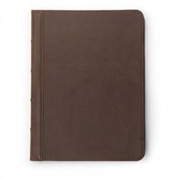 Samsill - 70836 - Samsill Vintage Hardback Zipper Padfolio - Letter - 8 1/2 x 11 Sheet Size - Dark Brown