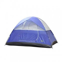 Stansport - 733 - Stansport Teton Camping Tent - 6 Person(s) Capacity - 1 Room(s) - Blue, Tan - Fiberglass, Steel