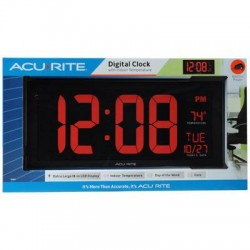 Chaney Instrument - 75100MA1 - AcuRite Digital 18 Wall Clock