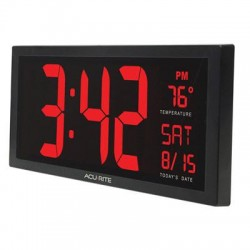 Chaney Instrument - 75127A1 - AcuRite Digit 14.5 Wall Clock