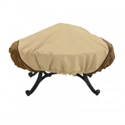 Classic Accessories - 78992 - Classic Accessories Veranda Round Fire Pit Cover - Supports Fire Pit - Polyester - Pebble, Bark, Earth - 1