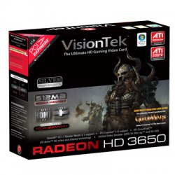 VisionTek - 900232 - Visiontek Radeon HD 3650 Graphics Card - ATi Radeon HD 3650 - 512MB GDDR2 SDRAM 128bit - PCI Express 2.0 x16 - DVI-I - Retail