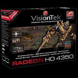 VisionTek - 900273 - Visiontek Radeon HD 4350 Graphics Card - ATi Radeon HD 4350 600MHz - 512MB DDR2 SDRAM - PCI Express 2.0 x16 - DMS-59