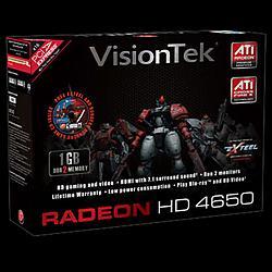 VisionTek - 900275 - Visiontek Radeon HD 4650 Graphics Card - ATi Radeon HD 4650 600MHz - 1GB DDR2 SDRAM 128bit - PCI Express 2.0 x16 - DMS-59 - Retail