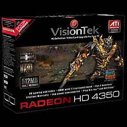 VisionTek - 900289 - Visiontek Radeon HD 4350 Graphics Card - ATi Radeon HD 4350 - 512MB DDR2 SDRAM 64bit - PCI Express 2.0