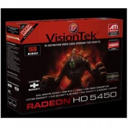 VisionTek - 900358 - Visiontek 900358 Radeon HD 5450 Graphic Card - 650 MHz Core - 1 GB DDR3 SDRAM - PCI Express 2.0 x16 - CrossFireX - DirectX 11.0HDMIVGADVI - PC