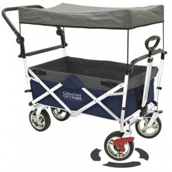 Creative Outdoor - 900550 - PushPull Fold Wagon Canopy Blu