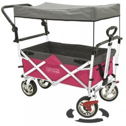 Creative Outdoor - 900552 - PushPull Fold Wagon Canopy Pnk