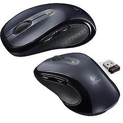 Logitech - 910-001822 - Logitech M510 Wireless Optical Mouse - Laser - Wireless - Radio Frequency - Gray, Black - USB - 1000 dpi - Computer - Scroll Wheel - 7 Button(s) - Symmetrical