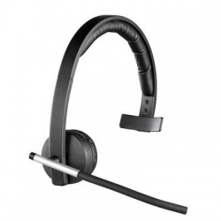 Logitech - 981-000511 - Logitech Wireless Headset Mono H820e - Mono - Wireless - DECT - 328.1 ft - 150 Hz - 7 kHz - Over-the-head - Monaural - Supra-aural - Electret Microphone - Noise Canceling