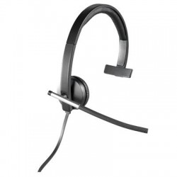 Logitech - 981-000513 - Logitech USB Headset Mono H650e - Mono - USB - Wired - 50 Hz - 10 kHz - Over-the-head - Monaural - Supra-aural - Noise Cancelling Microphone