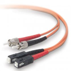 Belkin / Linksys - A2F20207-05M - Belkin - Patch cable - ST/PC multi-mode (M) to SC/PC multi-mode (M) - 16.4 ft - fiber optic - 62.5 / 125 micron - OM1 - orange - B2B
