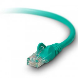 Belkin / Linksys - A3L791B50-GRN-S - Belkin Cat. 5e Patch Cable - RJ-45 Male - RJ-45 Male - 50ft