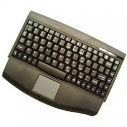 Adesso / ADS Technologies - ACK-540PB - Adesso MiniTouch ACK-540PB Keyboard - PS/2 - QWERTY - 88 Keys - Black