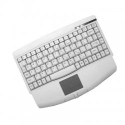 Adesso / ADS Technologies - ACK-540PW - Adesso ACK-540PW Mini-Touch Keyboard with Touchpad - PS/2 - QWERTY - 89 Keys - White