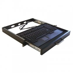 Adesso / ADS Technologies - ACK-730PB-MRP - Adesso ACK-730PB-MRP 1U Rackmount Keyboard with Touchpad - PS/2 - QWERTY - 104 Keys - Black