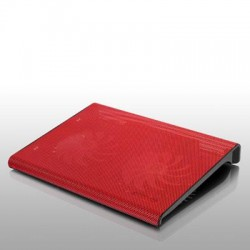 Aluratek - ACP01FR - Aluratek Slim USB Laptop Cooling Pad (Red) - 2 Fan(s) - 800 rpm rpm - Metal - Red