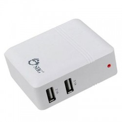 SIIG - AC-PW0K12-S1 - SIIG 4.2A USB Power Adapter - 2-Port (White) - 110 V AC, 220 V AC Input Voltage - 5 V DC Output Voltage - 4.20 A Output Current