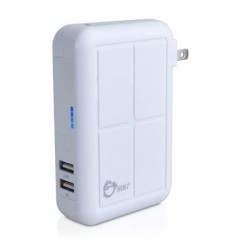 SIIG - AC-PW0Y12-S1 - SIIG 3-in1 Power Bank Charger - White - 17 W Output Power - 12 V DC, 120 V AC, 230 V AC Input Voltage - 5 V DC Output Voltage - 3.40 A Output Current