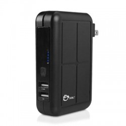 SIIG - AC-PW0Z12-S1 - SIIG 3-in1 Power Bank Charger - Black - 17 W Output Power - 12 V DC, 120 V AC, 230 V AC Input Voltage - 5 V DC Output Voltage - 3.40 A Output Current