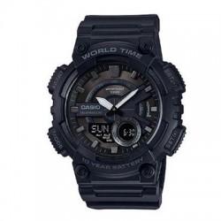 Casio - AEQ110W-1BV - AEQ110W 1BV Blk Ana Digi Watch