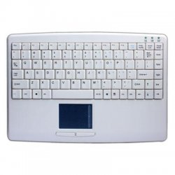 Adesso / ADS Technologies - AKB-410UW - Adesso SlimTouch AKB-410UW Keyboard - Cable Connectivity - USB Interface - 88 Key - English (US) - TouchPad - Compatible with Computer (PC) - Membrane - White