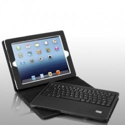 Aluratek - AKBAIR01FB - Aluratek Keyboard/Cover Case (Folio) for iPad Air - Black - 11.8 Height x 8 Width x 1.3 Depth