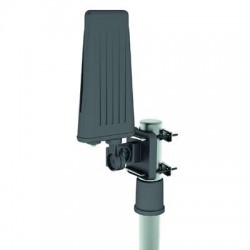QFX - ANT-110 - QFX All Weather Outdoors Antenna - Range - VHF, UHF - 174 MHz, 470 MHz to 230 MHz, 862 MHz - 36 dB - Television, OutdoorMast/Wall/Railing - F-Type Connector