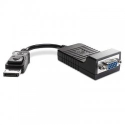 Hewlett Packard (HP) - AS615AA - HP DisplayPort to VGA Adapter - HD-15 Female VGA, DisplayPort Digital Audio/Video - 8