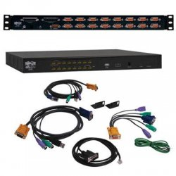 Tripp Lite - B022-U16 - Tripp Lite 16-Port Rackmount KVM Switch w/ USB / PS2 KVM Cable Kit 1U - 16 Computer(s) - 2048 x 1536 - 2 x PS/2 Port - 3 x USB - Rack-mountable - 1U