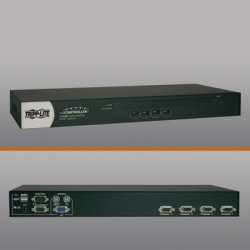 Tripp Lite - B042-004 - 4-port Rackmount Usb / Ps2 Kvm Switch W/ On-screen Display 1u