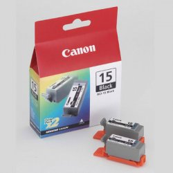 Canon - BCI15BK - Canon Black Ink Cartridge - Black - Inkjet - 185 Page - 2 Pack