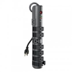 Belkin / Linksys - BP108000-06 - Belkin 8-outlet Pivot-plug Power Strip Surge Protector With 6-foot Power Cord, 1