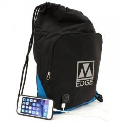 M-Edge - BPK-DS4-N-BB - M-Edge Tech Sack Carrying Case for Smartphone, Tablet, Battery - Black, Blue