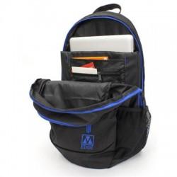 M-Edge - BPK-FL6-N-BB - M-Edge Flex BPK-FL6-N-BB Carrying Case (Backpack) for 15 Battery, Smartphone, Notebook, Tablet, Bottle - Black, Blue - Nylon - Shoulder Strap - 5 Height x 14 Width x 18.5 Depth