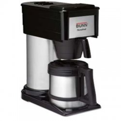 Bunn-O-Matic - 38200.0016 - 10-Cup Velocity Brew BT Thermal Coffee Brewer, Black, Stainless Steel