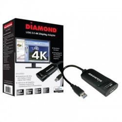 Diamond Multimedia - BVU5500 - DIAMOND BizView BVU5500 DL-5500 Graphic Adapter - DisplayPort - PC, Linux, Mac - 1 x Monitors Supported