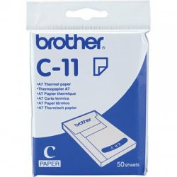 Brother International - C11S - Brother C11S Thermal Paper - A7 - 2 29/32 x 4 1/10 - 20 Pack