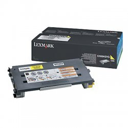 Lexmark - C500H2YG - Lexmark Toner Cartridge - Laser - High Yield - 3000 Pages - Yellow - 1 Each